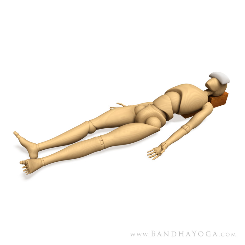<strong>Savasana with Props</strong> - This image is from <em>Anatomy for Arm Balances and Inversions</em> in the <em>Yoga Mat Companion</em> book series.